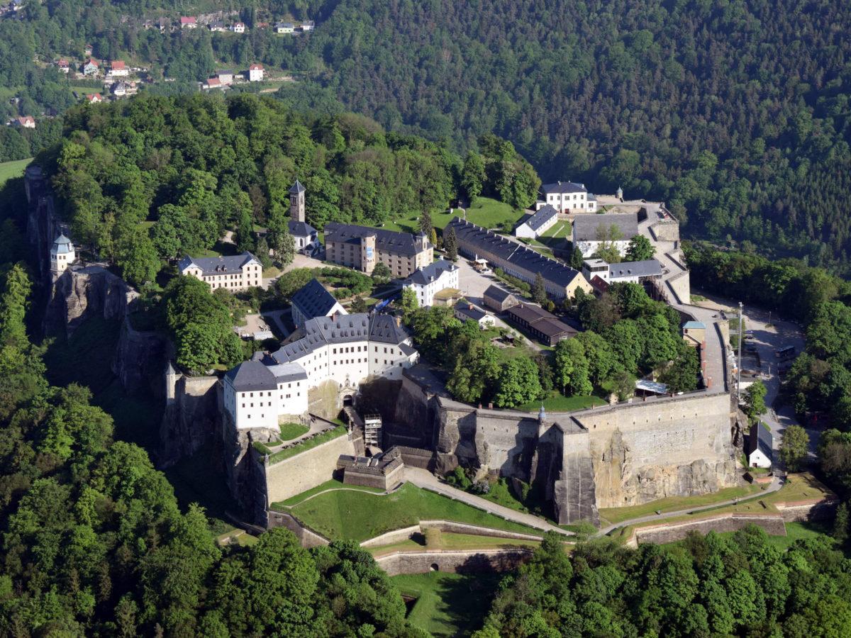 Festung Königstein - Luftbild Heyde